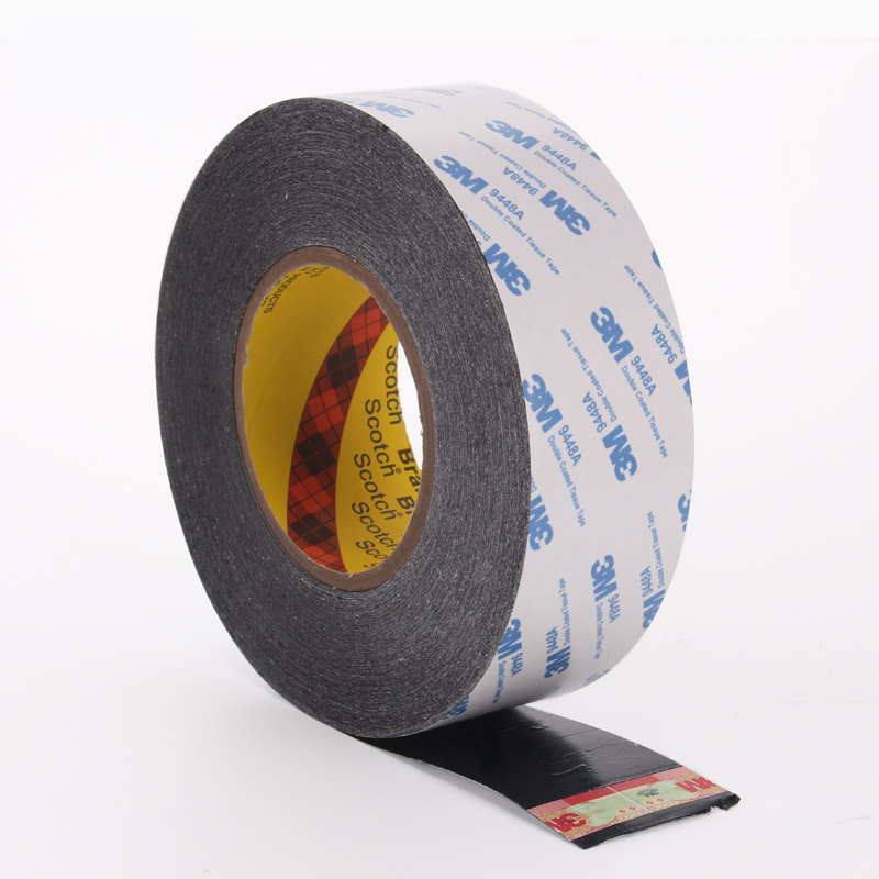 3M9448AB black double-sided tape 3M double-sided adhesive screen batteries and other electronic products fixed strength double-sided adhesive 50 meters long